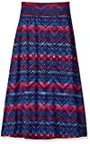 Amy Byer Girls' Big Print Stripe Maxi Skirt, Color Multi Large