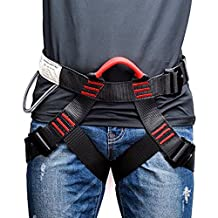 Thicken Climbing Harness, Weanas Protect Waist Safety Harness, Wider Half Body Harness for Mountaineering Fire Rescuing Rock Climbing Rappelling Tree Climbing