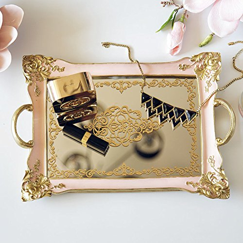Cheap  Jewelry tray,Jewelry storage box Table European style classical furnishings decoration mirror Decoration..