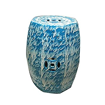 Großartig Unbekannt Health UK Accessories  Hocker Blue High Glasierte Keramik Drum Hocker  Coole Bank Porzellan Pier