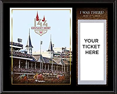 "Kentucky Derby 144 12"" x 15"" Sublimated I Was There Ticket Plaque - Fanatics Authentic Certified - College Team Plaques and Collages"