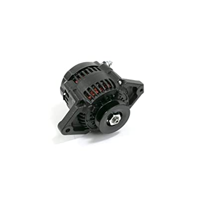 TSP Black Mini Denso Racing Style V-Belt 90 Amp Alternator ES1004BK: Automotive