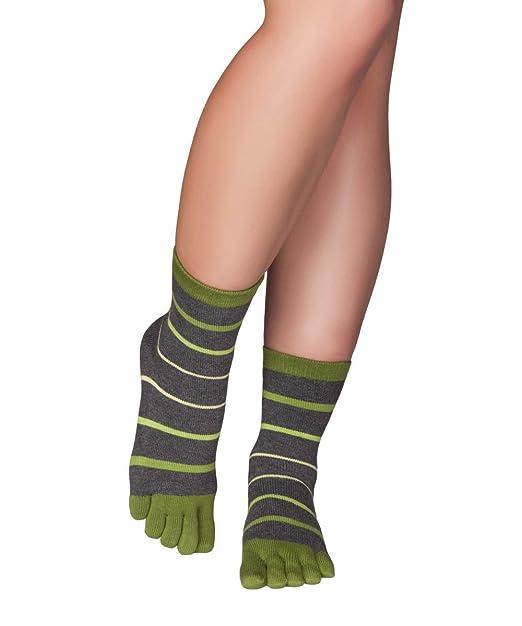 Knitido Calcetines de dedos a rayas Stripes Midi, 94 % algodón, unisex, Talla