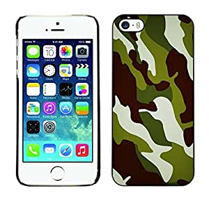 Carcasa Funda Prima Delgada SLIM Casa Case Bandera Cover Shell para Apple Iphone 5 / 5S / Business Style Camo Camouflage Chamo Jungle Pattern