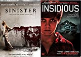 Sinister & Insidious DVD Scary Paranormal Horror Thriller Movie Collection