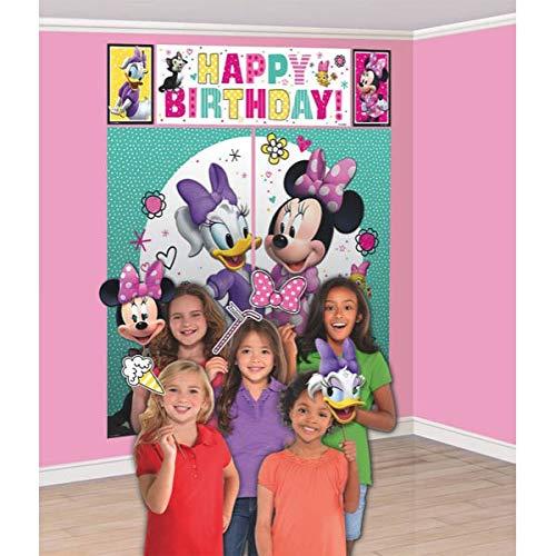 Disney Minnie Mouse Scene Setter Decoration Set Party Accessory -