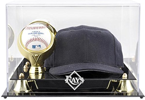 Mounted Memories Tampa Bay Rays Acrylic Cap and Baseball Display Case - Mlb Baseball Cap Display Case