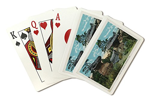 Colorado Springs, Colorado - View of the Toad and Toadstools at Garden of the Gods (Playing Card Deck - 52 Card Poker Size with Jokers)