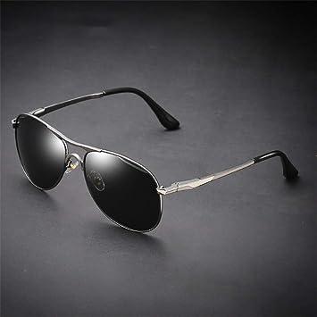 Gafas de Sol polarizadas para Hombres Parte de vástago de Mosca Espejo de Rana de Metal
