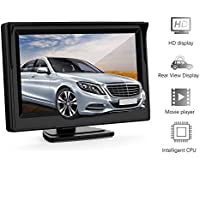 5 Inch Car Rear View Monitor - GOGO ROADLESS 2 Video Input Vehicle Backup Monitor for VCD / DVD / GPS / Car Reverse Camera /Truck//Trailer