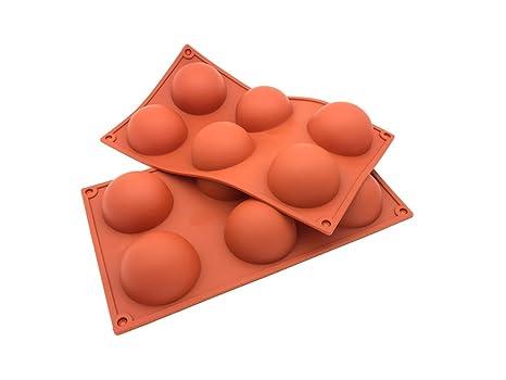D&R Molde de silicona para hornear tartas, con forma hemisférica o abovedada,