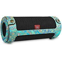 Fintie JBL Flip 4 Case - Premium PU Leather Carrying Sleeve Protective Cover with Carabiner for JBL Flip4 Waterproof Portable Bluetooth Speaker, Shades of Blue