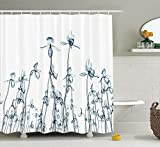 KANATSIU XRay Photo A Group Orchides Rare Unseen Art in Nature Shower Curtain 12 Plastic Hooks,100% Made Polyester,Mildew Resistant & Machine Washable,Width x Height is 72X72