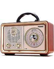 J-110 Vintage Portable Radio AM FM Bluetooth Transistor Shortwave Radio, Support USB SD Card MP3 Player(Gold)