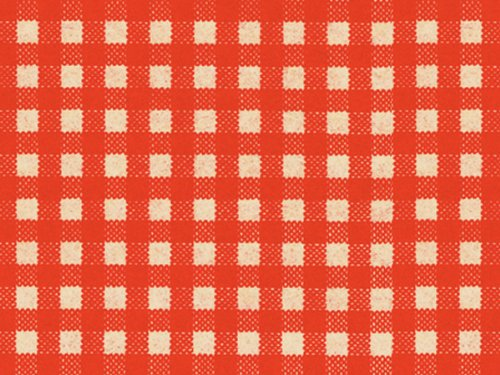RED GINGHAM Kraft Tissue Paper120~20