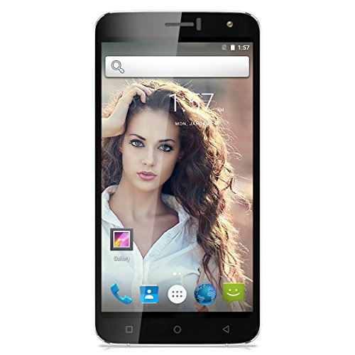 TIMMY M28 6.0 Zoll 4G-Smartphone Android 6.0 MTK6735 1.0GHz Quad Core Dual SIM Handy ohne Vertrag IPS Touchscreen 1GB RAM+8GB ROM Dual 5MP+2 MP dual Kamera Smart Gestures Cellphone Weiß
