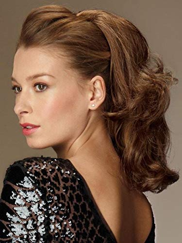 (Revlon Hairpiece, Wavy Locks, Golden Blonde with Interlocking Comb…)