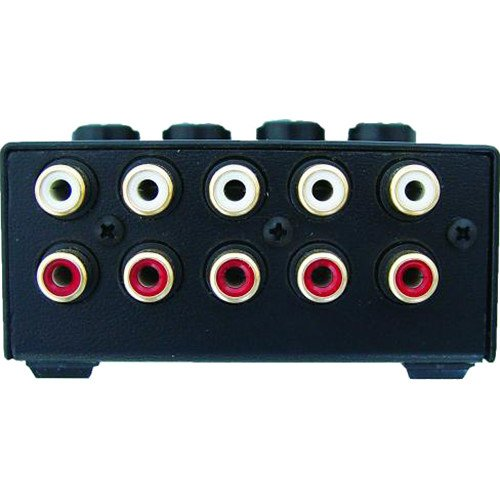 Rolls MX42 4-Channel Passive Mini Stereo Mixer with 2 RCA Male to 2 RCA Male Dual Audio Cable 3' by rolls (Image #4)