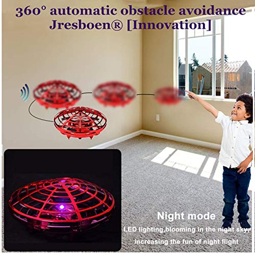 UFO Flying Ball Drone Toys, Jresboen [updated] Mini Drone Helicopter Infrared Sensing & Automatic Obstacle Avoidance Mini Quadcopter Drone Induction Aircraft Flying Saucer Toy Gift for Boys Girls Kids by Jresboen (Image #6)