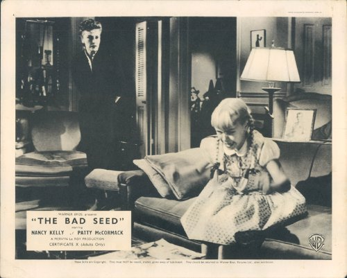 THE BAD SEED PATTY MCCORMACK NANCY KELLY ORIGINAL BRITISH LOBBY CARD