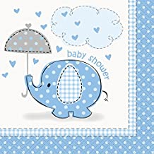 Blue Elephant Baby Shower Cocktail Napkins, 16ct