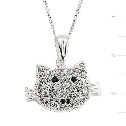 Swarovski Cat Collars (KOKANA Silver, Swarovski Stone Cat Necklace, Gifts for Girlfriend and Mom)