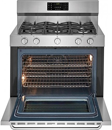 Frigidaire FGDF4085TS Gallery 6.4 Cu. Ft. Self-Cleaning Freestanding Dual Fuel Convection Range Stainless Steel