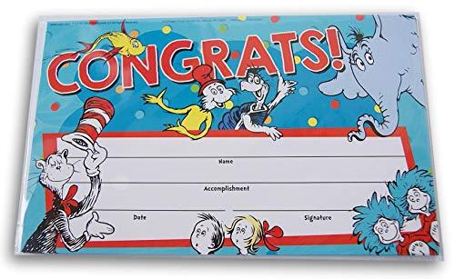 Dr. Seuss Congrats Recognition Award Certificates - 18 -