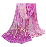 Women Autumn Winter Scarf; Lady Chiffon Silk Scarves Vovotrade (Purple)