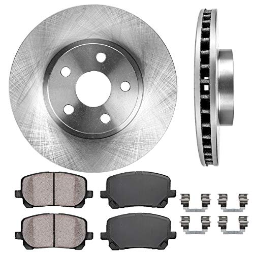 - FRONT 275 mm Premium OE 5 Lug [2] Brake Disc Rotors + [4] Ceramic Brake Pads + Clips