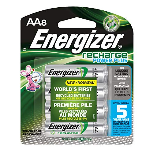 Energizer Recharge Power Plus AA8 2300 mAh, 8 Rechargable Batteries