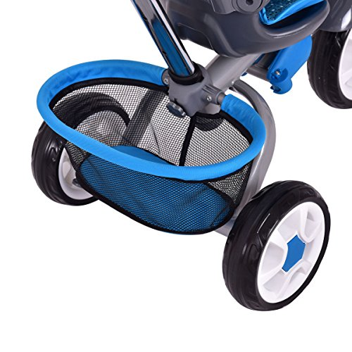 4-In-1 Kids Baby Stroller Tricycle Detachable Learning Toy Bike Canopy Basket by Eight24hours (Image #4)