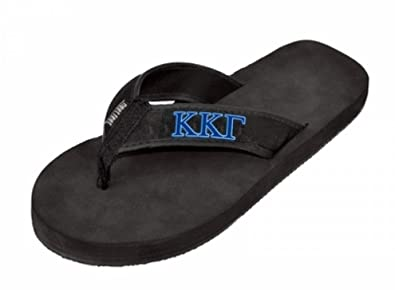 d5fb9754feb2 Kappa Kappa Gamma Flip Flops Medium Black