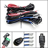 head challenger 130 - iJDMTOY 4-Output Universal Fit Relay Harness Wire Kit with LED Light ON/OFF Switch For Fog Lights, Driving Lights, HID Conversion Kit or LED Pod Light, Worklight, etc
