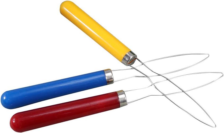 SUPVOX 3 Piezas Enhebrador de Aguja de Acero Inoxidable para Costura Artesan/ía