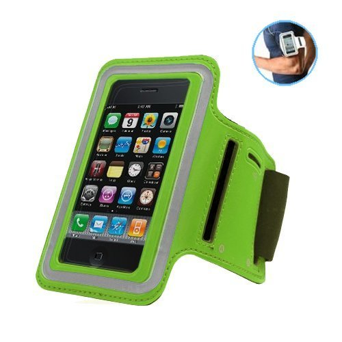 G4GADGET® Mesh Green Running Armband Case Cover for Apple Iphone 4s/4
