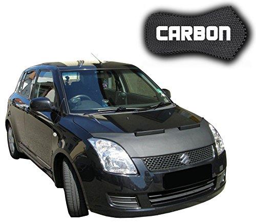 Black Bull Suzuki Swift 4 CARBON Protector del Capot Front End Cover Car Bra Bonnet Hood Tuning Coche Máscara NUEVO
