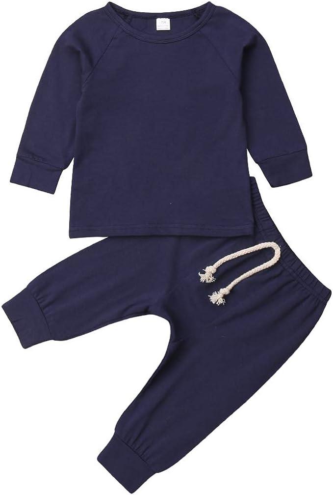 Newborn Kids Boy Sleepwear Outfit Baby Pajamas Sleepwear Nightwear 2Pcs Set