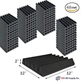 (48 Pk) 2''x12''x12'' Soundproofing Foam Acoustic Tiles Studio Foam Sound Wedges