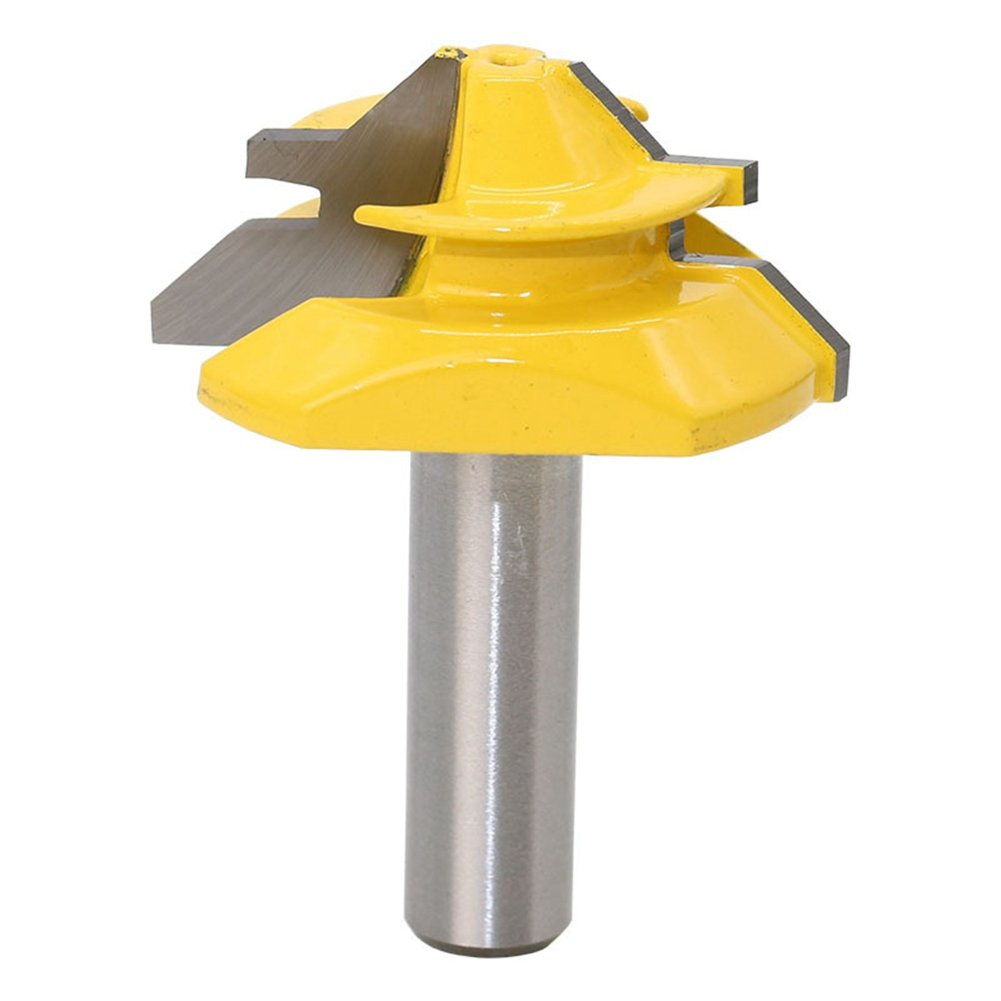 HOEN 45 Degree Lock Miter Router Bit Tenon Milling Cutter For Woodworking Cutter Tool Cutting Tools