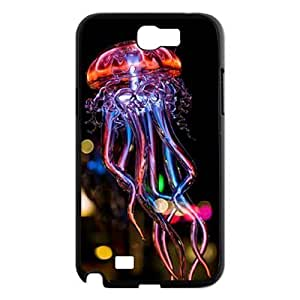 Colorful jellyfish Personalized Samsung Galaxy Note2 N7100/N7102 ,customized phone case ygtg-710640