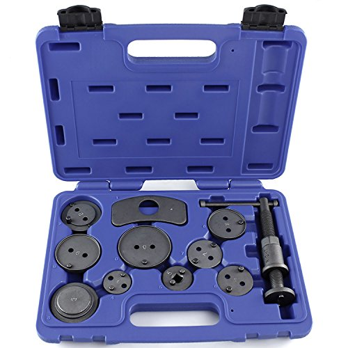 Capri Tools 10015 Disc Brake Caliper Wind Back Tool Kit, 11-Piece ()