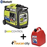 Ryobi Bluetooth 2,300-Watt Super Quiet Gasoline Powered Digital...