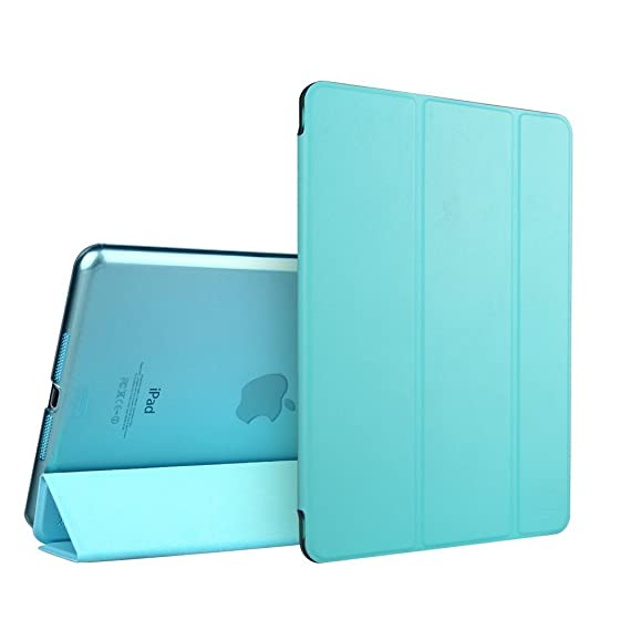 Gioiabazaar Smart Magnetic Trifold Case Cover + Slim Matte Back Case Cover For Apple iPad 2 3 4 Blue Cases   Covers