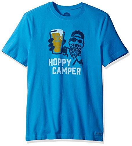 Life is good Men's Crusher Hoppy Camper Tee, Marina Blue, X-Large