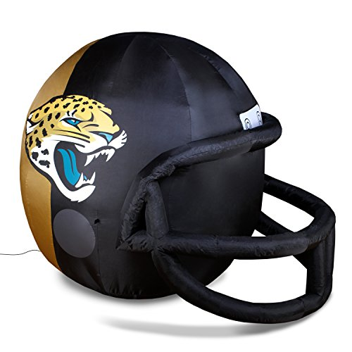 NFL Jacksonville Jaguars Team Inflatable Lawn Helmet, Black, One Size