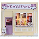 Dollhouse Miniature Kit Light News Stand Magazine Store Shop for christmas gift