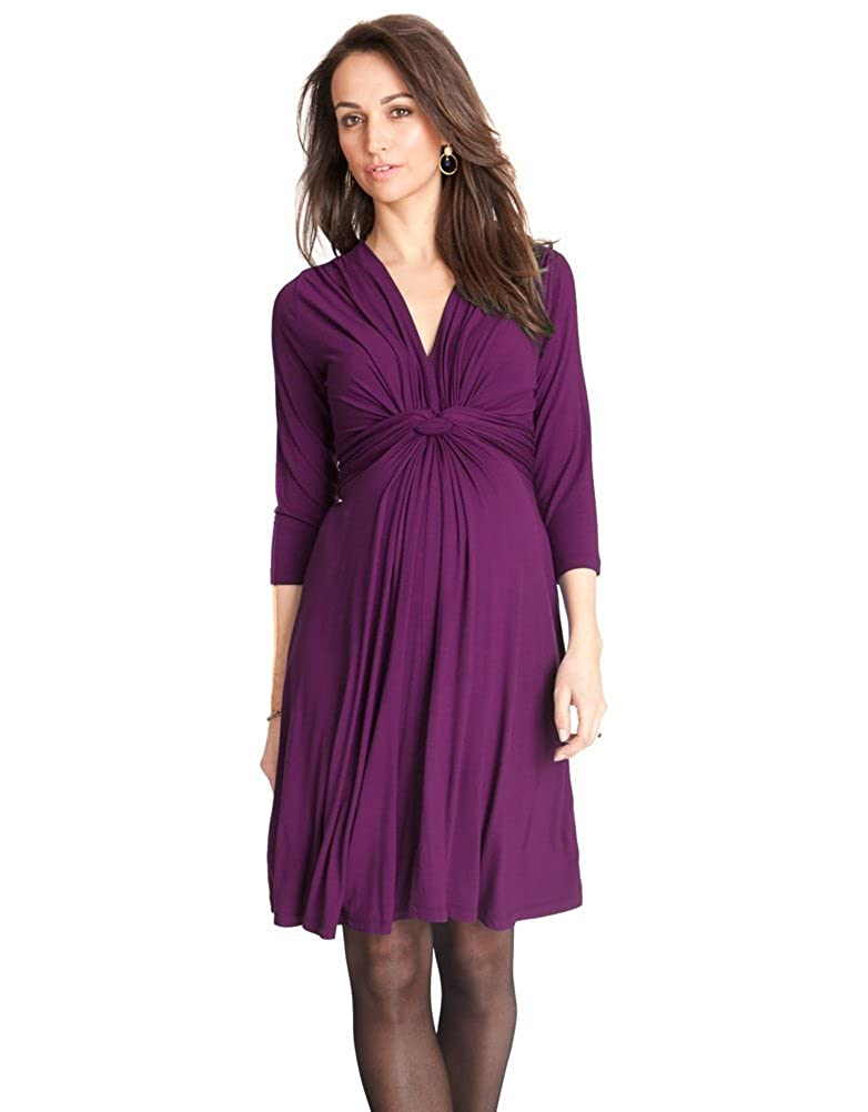 b46df20223c02 Seraphine Jolene Knot Front Maternity And Nursing Dress - 3/4 Sleeve -  Orchid - 8 at Amazon Women's Clothing store:
