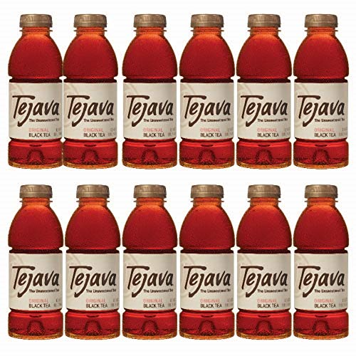 (Tejava Original Unsweetened Black Iced Tea, 16.9 oz PET Bottles, Award Winning, Non-GMO-Verified, from Rainforest Alliance-Certified farms (12 Pack))