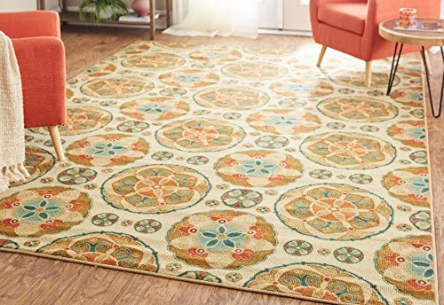 Mohawk Home Soho Spice Suzani Medallion Printed Area Rug, 7 6×10 , Multicolor